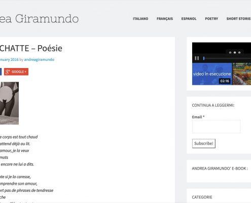 "Morena Fortino - ""La chatte"" poesia"